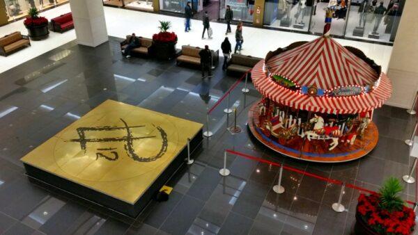 Karussell Menagerie Dampfkarussell Weihnachtsmarktkarussell Kaufhausmodell