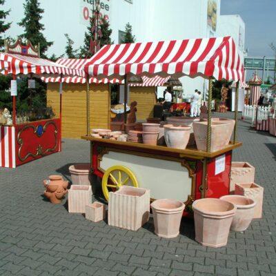 Marktwagen mieten Präsentationsstand Warenpräsentation