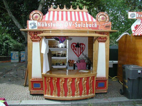 Nostagiebude Spielbude mieten Marktbude Atelier Peter Petz