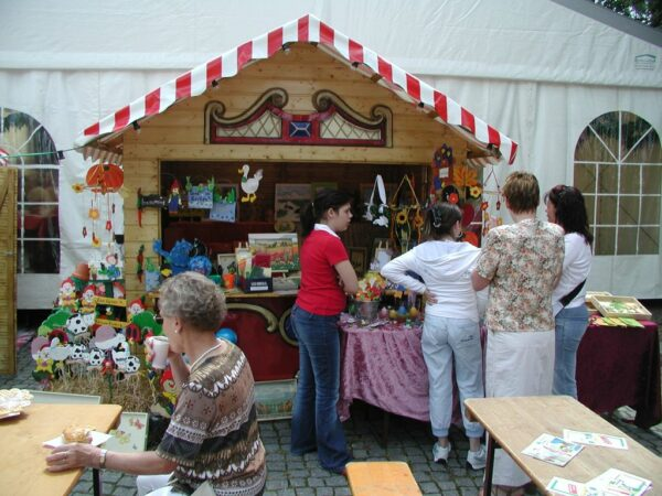 Nostagiebude Spielbude Marktbude Weihnachtsmarktbude Vermietung