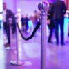 Personenleitsystem Absperrständer Edelstahl Kordel blau oder schwarz zum Absperren bestimmter Bereiche auf Konzerten und Events