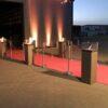 Personenleitsystem Absperrständer Edelstahl Kordel rot zum Anleiten von Personenschlangen Autohaus, Flughafen, Veranstaltung