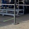 Personenleitsystem Outdoor Absperrständer schwarz Gurtband schwarz zum Anleiten von Personenschlangen Autohaus, Flughafen, Veranstaltung