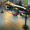 Personenleitsystem Racing Absperrständer schwarz Kordel rot mieten - Rennsportveranstaltung, Messestand