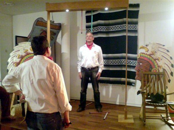 Pfeilfangspiel Stockfangspiel mieten bayrische Oktoberfestolympiade