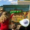Pfeilwerfen Luftballondart mieten Geschicklichkeitsspiel für Westernparty