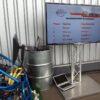 Professionelle LCD Monitore mit Alutruss Ständer mieten für Rankingboard, Simulatoren...