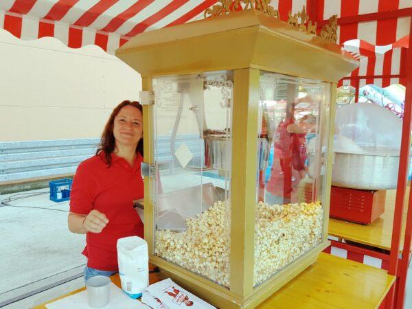 Professionelle Popcornmaschine mieten 12oz