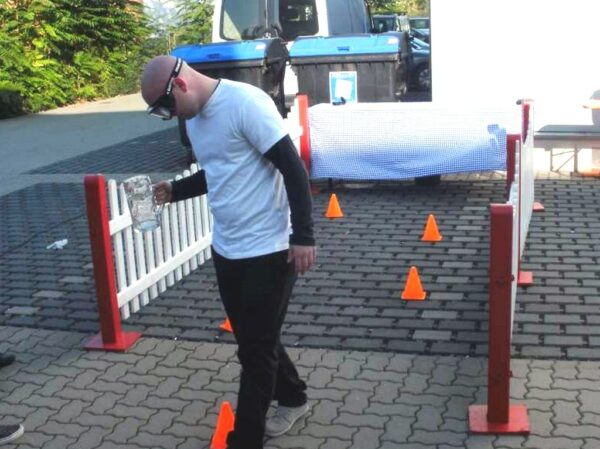 Promillebrille Parcours Rauschbrille Drunkbuster mieten