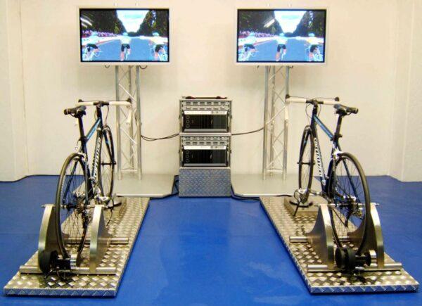 Rennradsimulator Doppelmodul mieten Radsportsimulator Messedesign