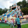 Riesenhüpfburg Roboter aufblasbarer Hindernisparcours