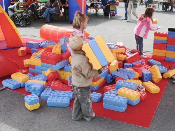 Riesenlego Klemmbausteine XXL Legobaustelle