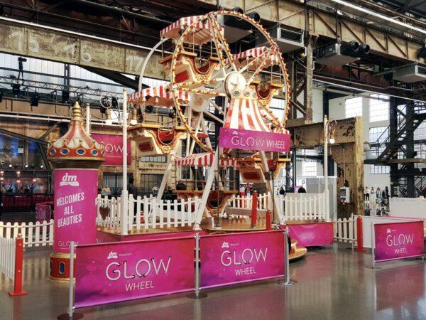 Riesenrad mieten Branding DM Glow Wheel