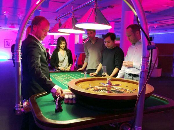 Roulette Tisch mieten mobiles Casino