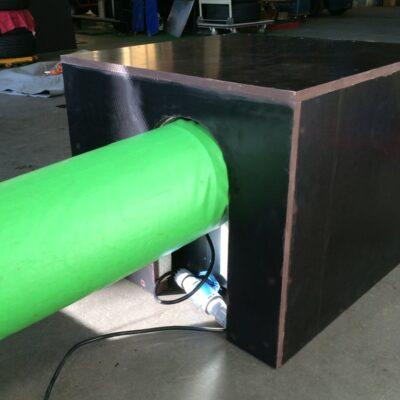 Schallschutzbox für Hüpfburgengebläse zur Reduzierung der Lautstärke