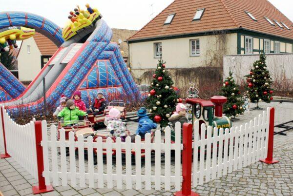 Schieneneisenbahn Kindertraumlandexpress Kindereisenbahn für Weihnachtsmarkt mieten