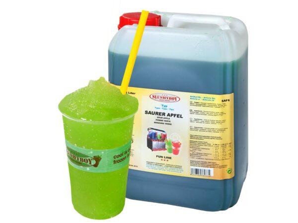 Slush Eis Maschine mieten Konzentrat in vielen verschiedenen Geschmacksrichtungen erhätlich