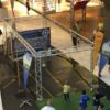 Speed Kick Radarmessgerät mit Ballfangkaefig Torwand Ballfangnetz mieten