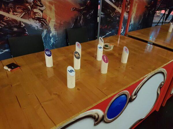 Spieleinsatz Ringewerfen Spielstand