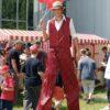 Stelzenläuferkostüm Nostalgie Walkact Stelzenläufer Jahrmarkt