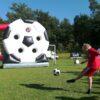 Torwand Fußballrad mieten Eyecatcher