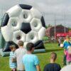Torwand Fußballrad mieten aufblasbarer Fussball
