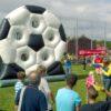 Torwand Fußballrad mieten runde Fussballtorwand
