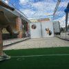 Torwandschiessen mit Gewinnspielversicherung Fussballtorwand Ballfangkaefig versichertes Risiko