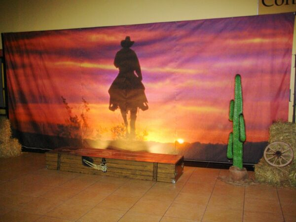 Western Dekovorhang Cowboy Westerparty Fotobox