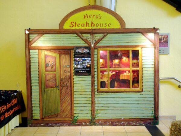 Westernparty Deko Kulissenwände Steakhouse mieten