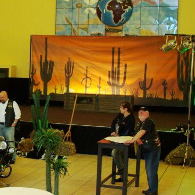 Westernparty Dekovorhänge Kakteen mieten Kaktus