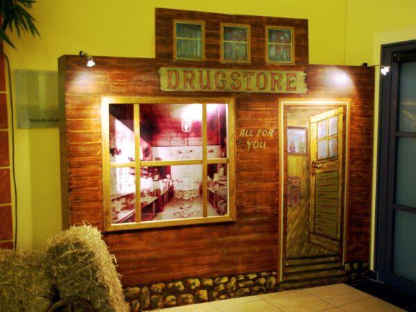 Westernparty Dekowand Drugstore mieten